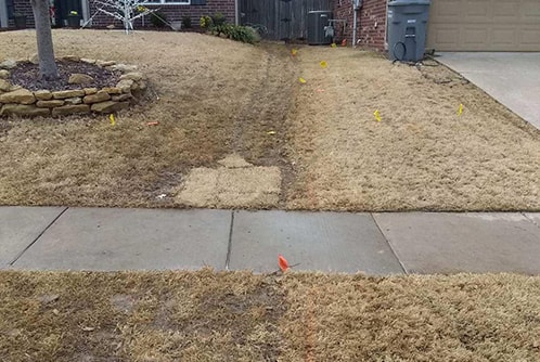 two yard grading to limit water restriction